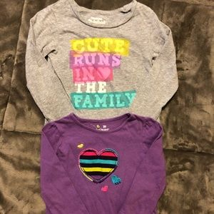 Long Sleeved Tees, Size 2T